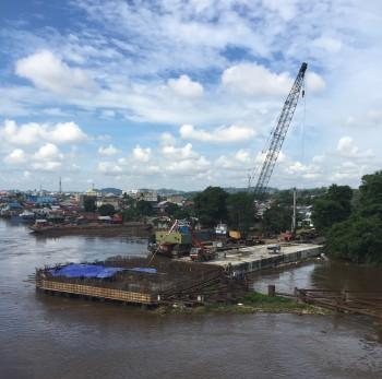 Pengecoran Pondasi Jembatan Mahakam IV, Samarinda