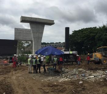 Progress project Jembatan Mahakam IV, Samarinda
