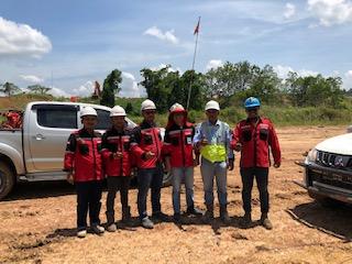 On Site PT. Ganda Alam Makmur, Sangkulirang, Kutai Timur, Kalimantan Timur